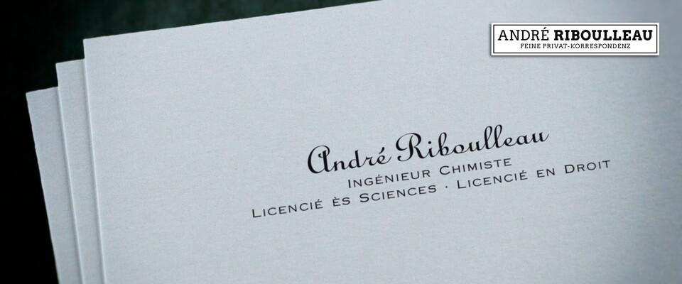 Visitenkarte Typ A Riboulleau Medium